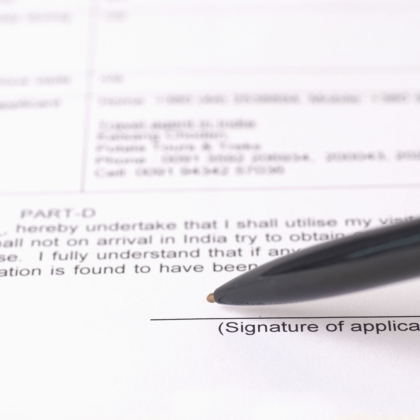A contract about to be signed. MNS attorneys has extensive experience in corporate and commercial law.