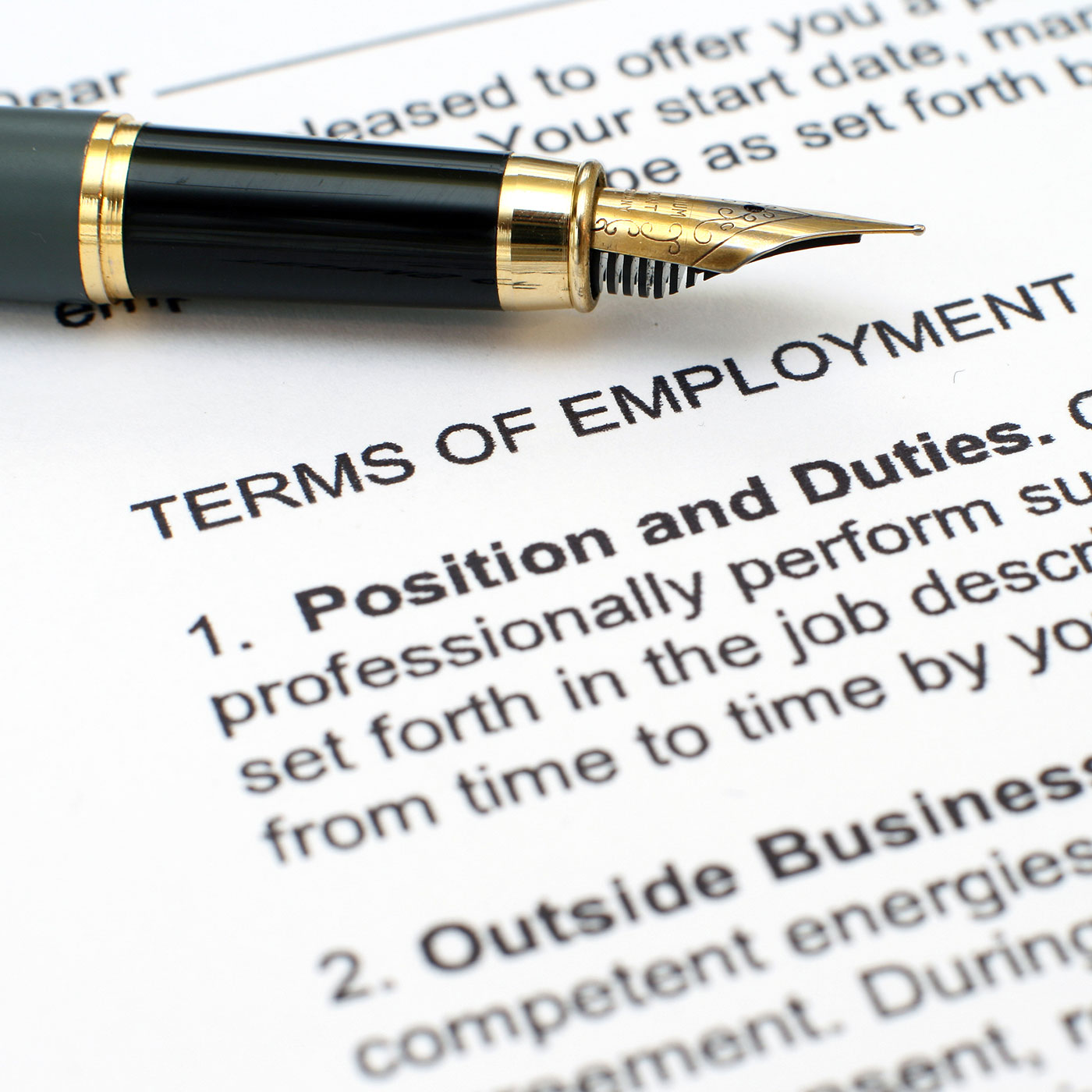 Terms of employment contract. MNS Attorneys can assist in Employment Law & Dispute Resolution matters.