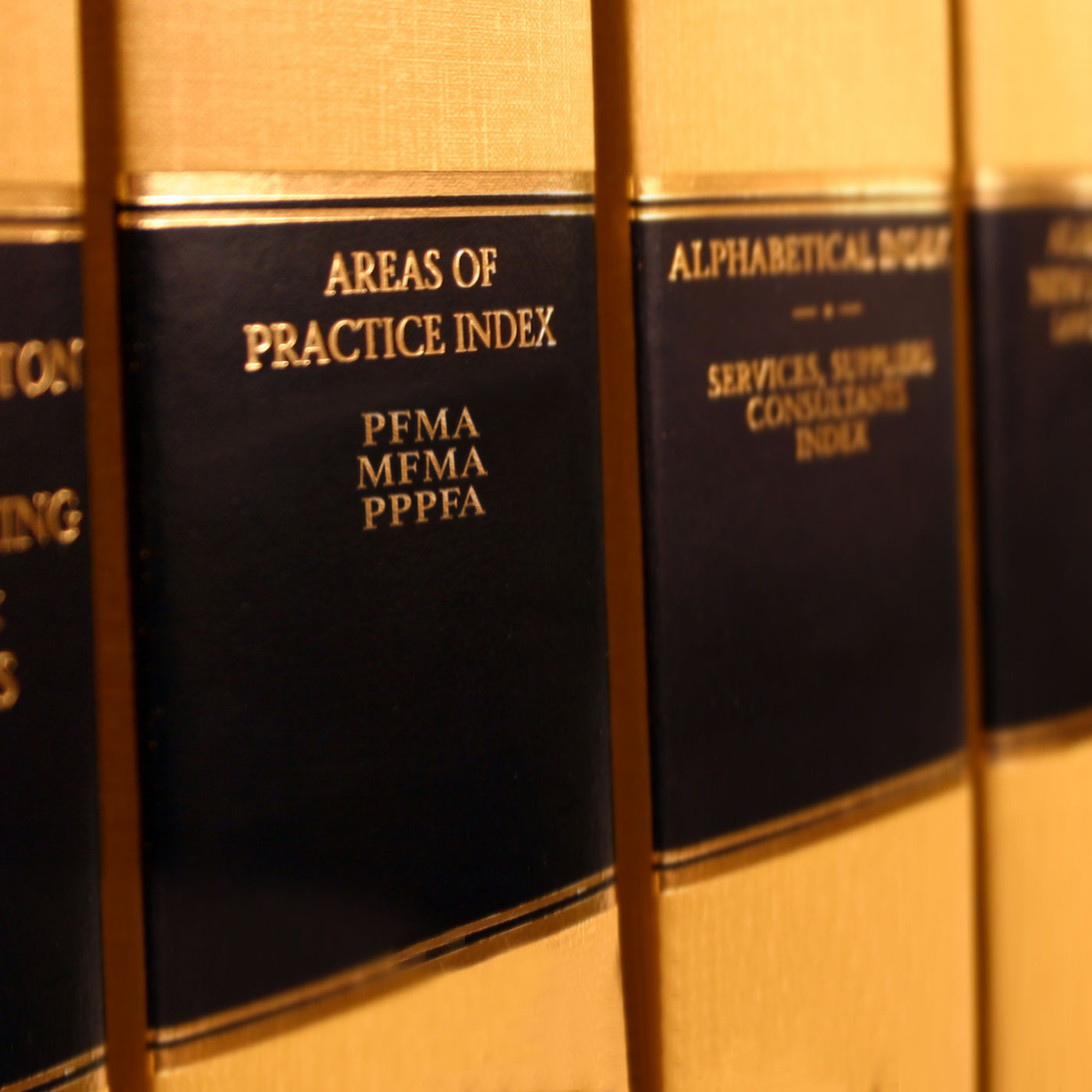 Volumes of legal books. MNS Attorneys has extensive knowledge and experience in Procurement Law.